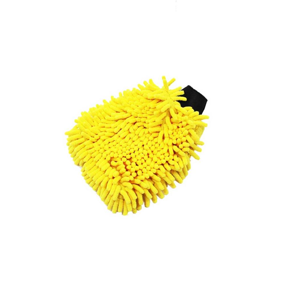 Gant De Lavage Bi Face Microchenilles & Microfibres – Coloris Jaune